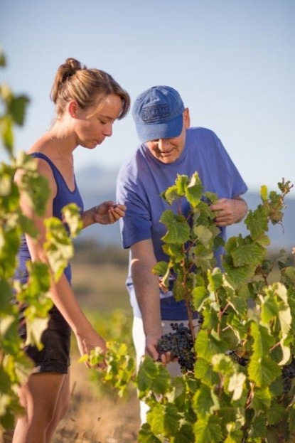 Nadia Barnard (Winemaker) & Paul Boutinot (Owner)