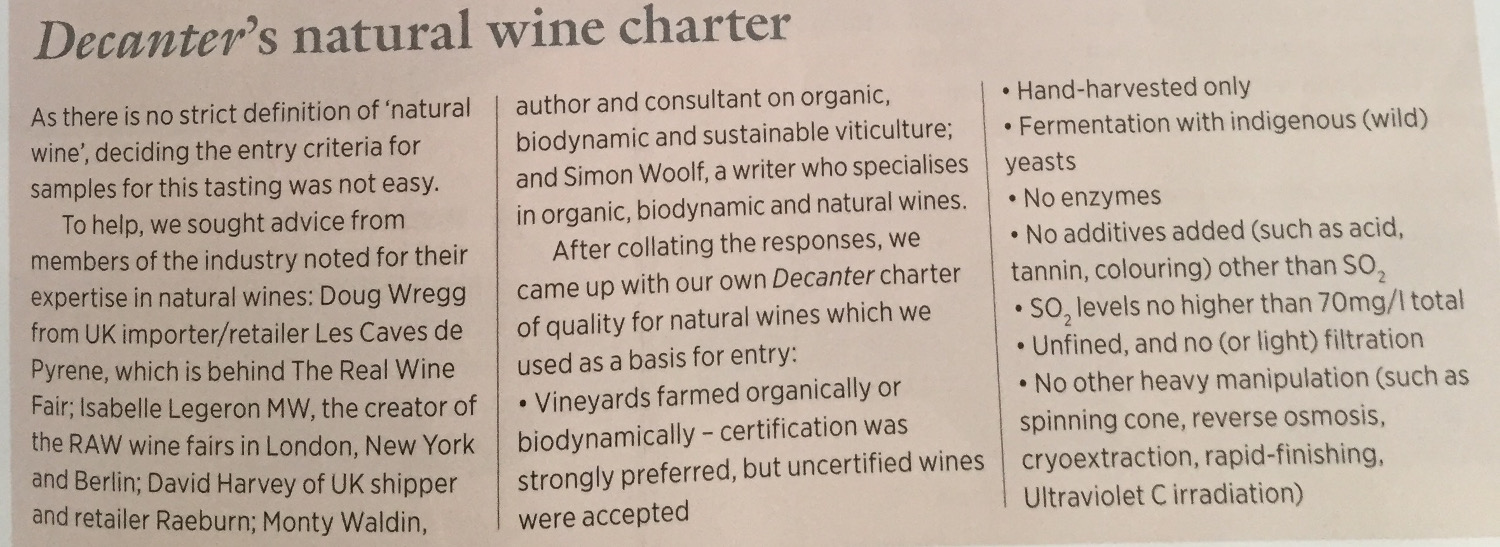 DECANTER - NATURAL WINE CHARTER Draft2